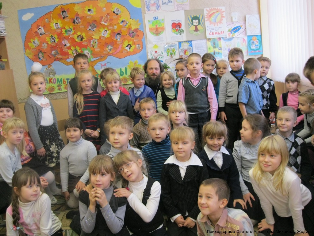 Встреча с первоклашками, школа №8