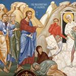 воскрешение лазаря икона