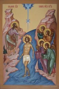 крещение икона